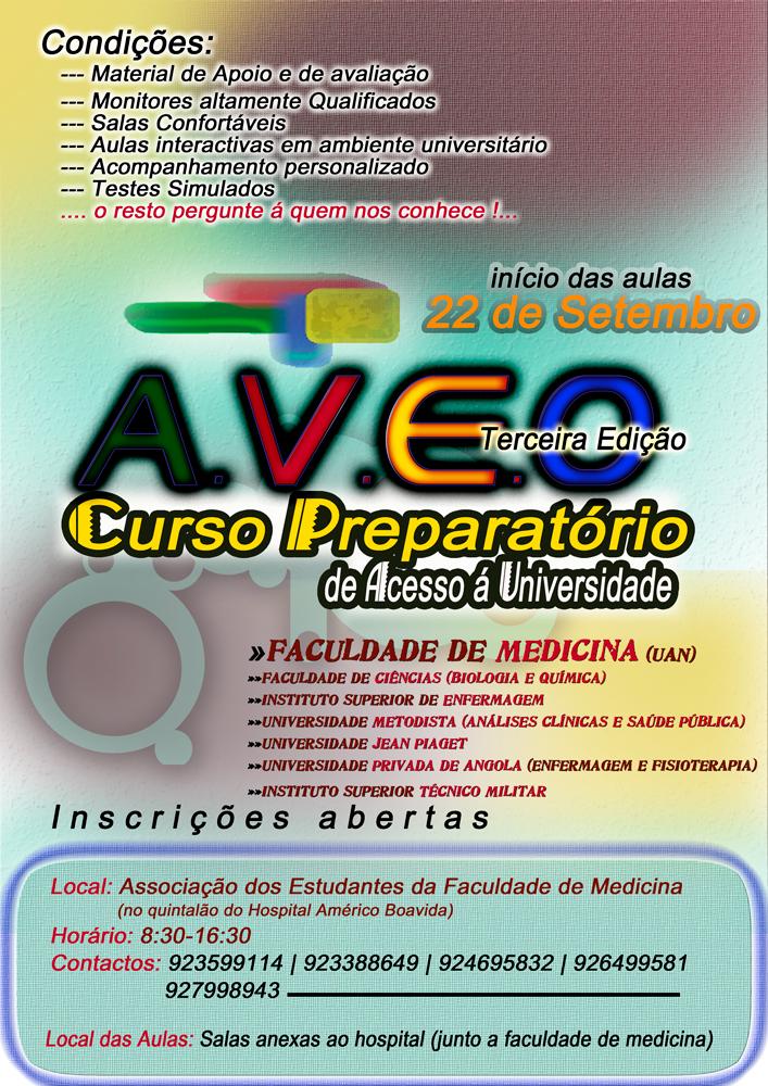 Cartaz Curso Preparatório AVEO 2008