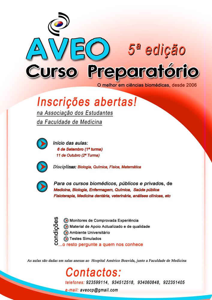 Cartaz Curso Preparatório AVEO 2010